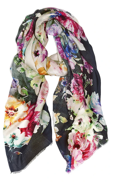 Modal/Silk Scarf - Floral Occur
