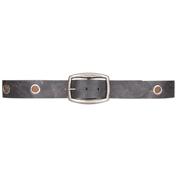 Grommet Belt - Grey