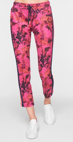 Paradise Crop Track Pant Pink