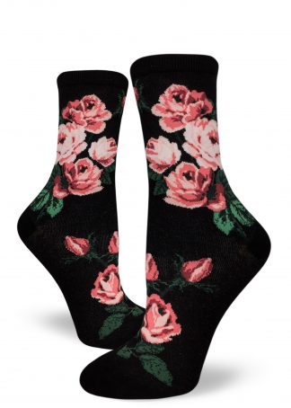 Romantic Rose Crew Black