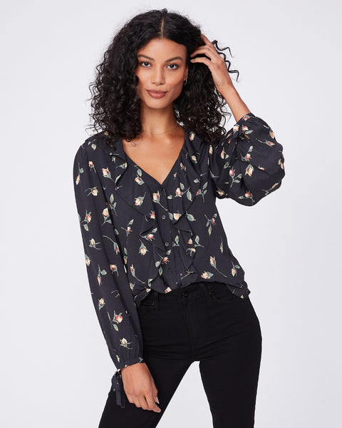 Russo Floral Blouse - Black