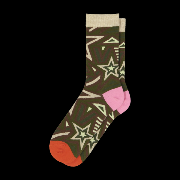 Crew Socks Star Tan Combo