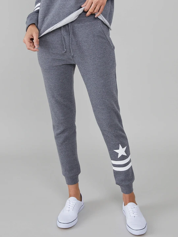 Star & Stripes Sweatpant  Dark Heather Grey