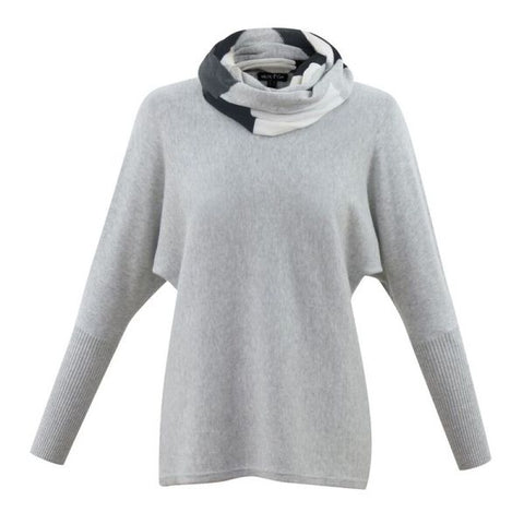 Marble clothing uk winter sweater with snood