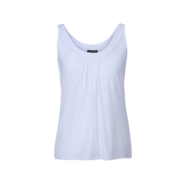 Marble white vest top