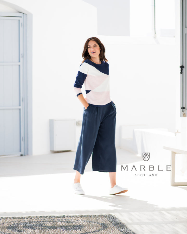 Marble Denim Coloured Culottes