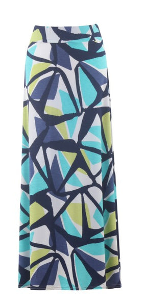 Marble abstract maxi skirt