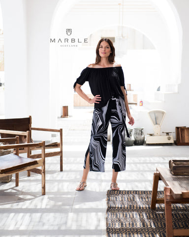 Marble summer trousers