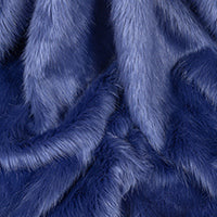Vegan fake fur scarf in Blueberry