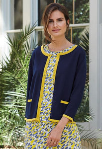 Adini Grace Cardigan in Navy