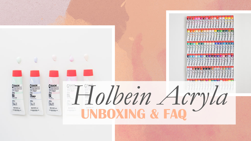 HOLBEIN ACRYLA // Unboxen van alle sets & FAQ | HOLBEIN ACRYLA // Unboxing all sets & FAQ