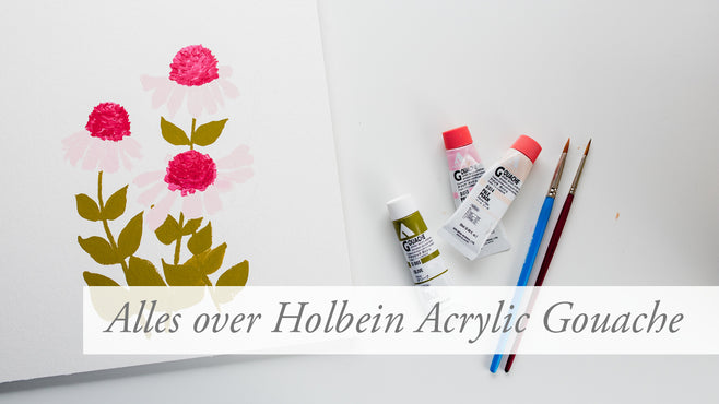 ALLES OVER // Holbein Acryla Gouache + video | ALL ABOUT // the Holbein Acryla Gouache
