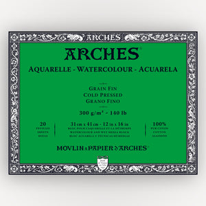Arches Cold Pressed 300gms 20 sheets 31 x 41 cm