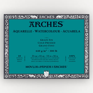 Arches Cold Pressed 640gms 10 sheets 31 x 41 cm