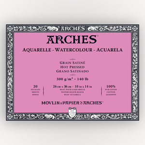 Arches Hot Pressed 26x36cm 300gms 20 sheets