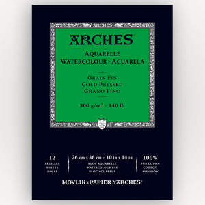 Arches Cold Pressed 26x36cm 300gms 12 sheets