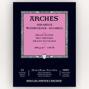 Arches Hot Pressed 300g 23x31cm 12 sheets