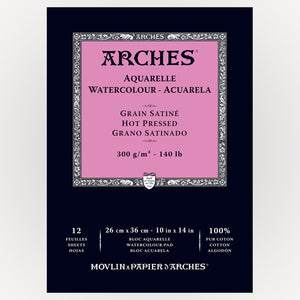 Arches Hot Pressed 26x36cm 300gms 12 sheets