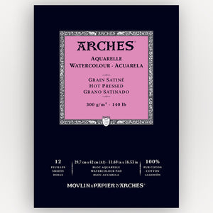 Arches Hot Pressed 29,7x42 300gms 12 sheets