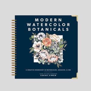'Modern Watercolor Botanicals' by Sarah Simon
