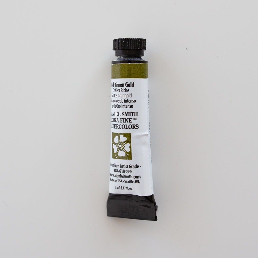 Daniel Smith Extra Fine Watercolors 5ml Rich Green Gold 2