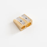 DUX Messing dubbele puntenslijper | DUX Messing double pencil sharpener