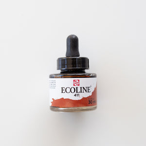 Ecoline 411 Burnt Sienna. 30ml