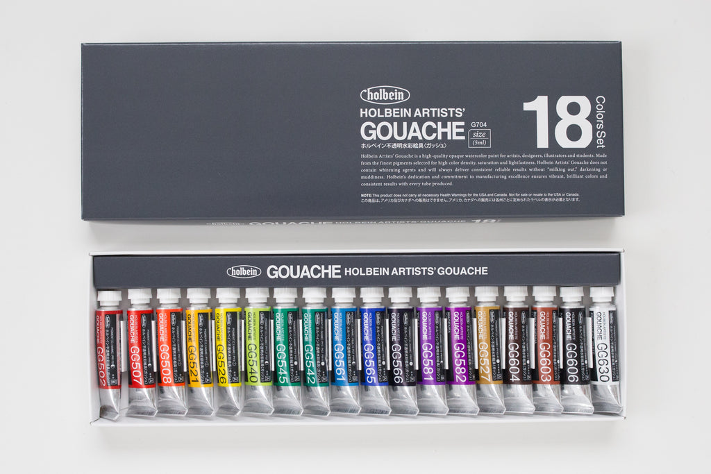 Holbein Gouache set 18 5ml
