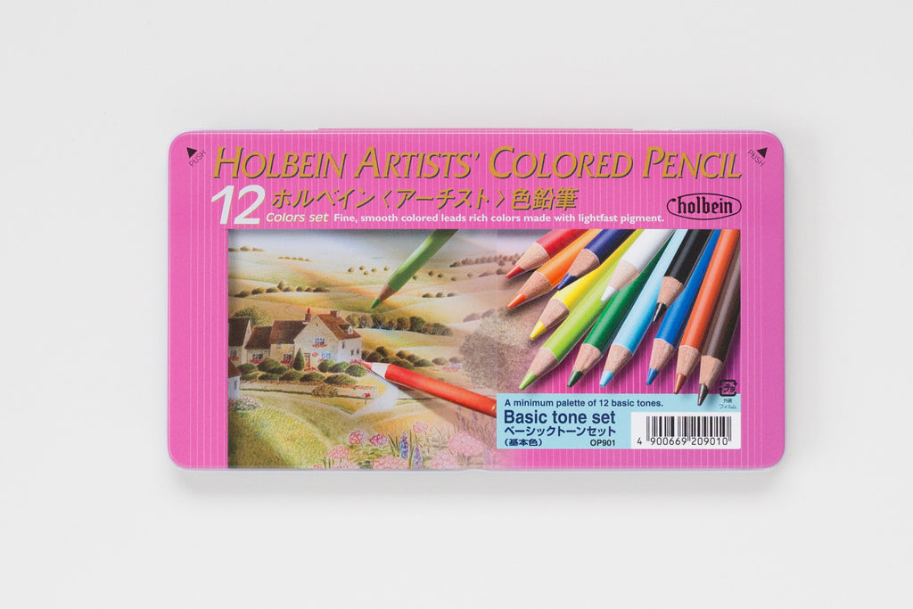 OP901 'Set 12C Basic Tone' Colored Pencil Holbein