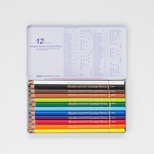 Holbein Kleurpotloden set 12 Basic Tone | Holbein coloring pencil set 12 Basic Tone