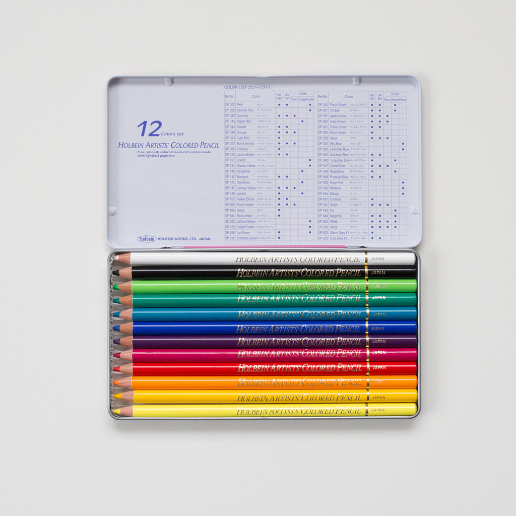 Holbein Kleurpotloden set 12 Design Tone | Holbein coloring pencil set 12 Design Tone