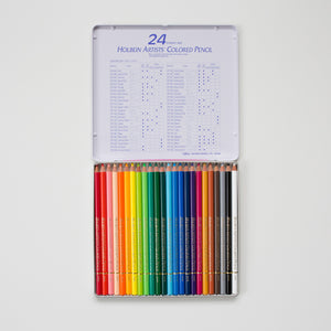 Holbein Kleurpotloden set 24 | Holbein coloring pencils set 24