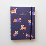 Mossery Medium Wire-O Hardcover Schetsboek Water Color Corgi Navy