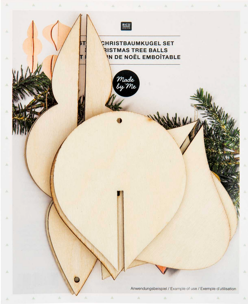 Wooden Christmas Ornaments set