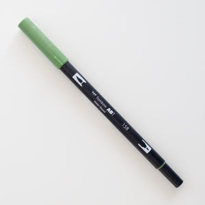 Tombow Dual Brush ABT 158 Dark Olive