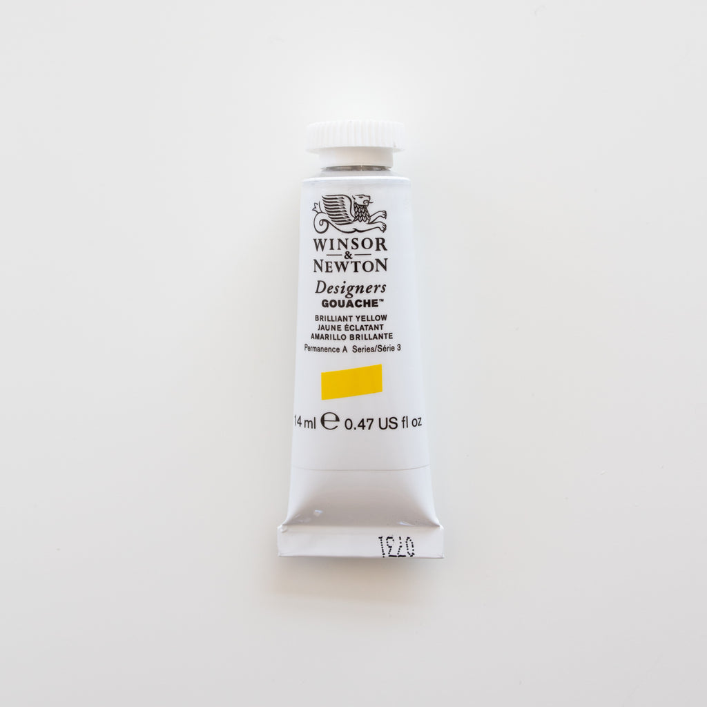 Winsor & Newton Designers Gouache 15ml Brilliant Yellow 3