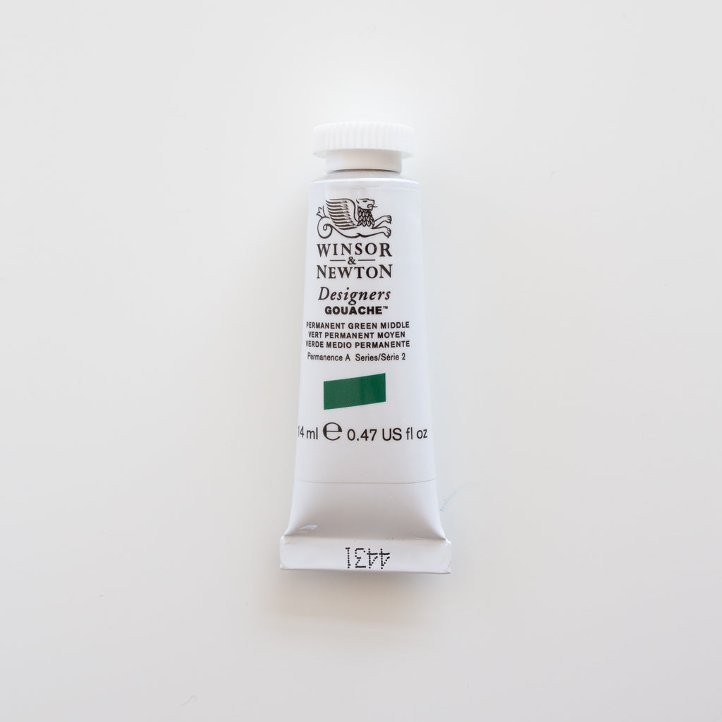 Winsor & Newton Designers Gouache 15ml Permanent Green Middle 2