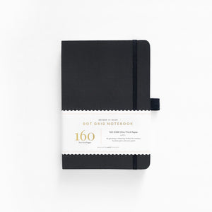 Archer & Olive Dot Grid Black Hardcover