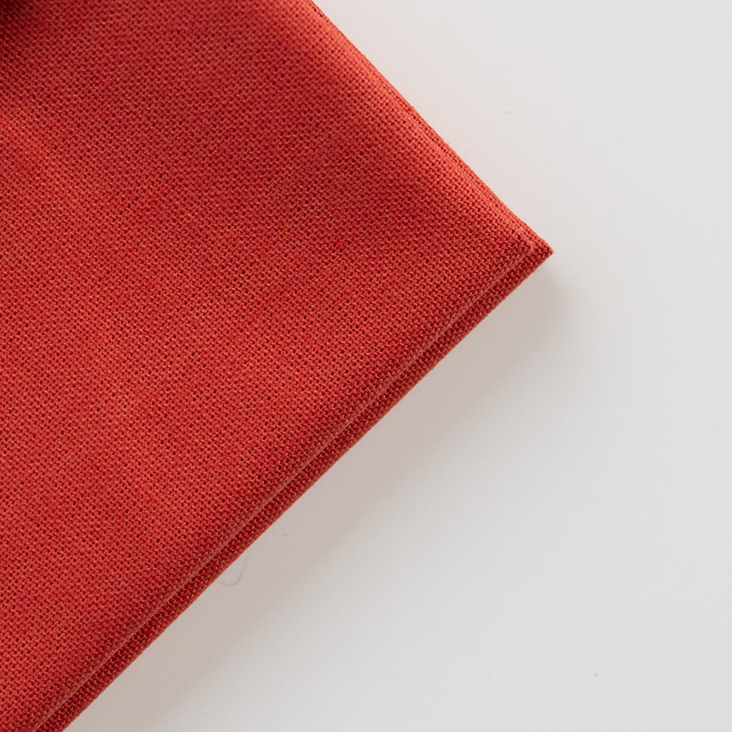 Borduurstof Katoen 'Earth red' | Embroidery fabric Cotton 'Earth red'