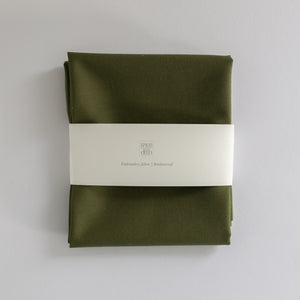 Borduurstof 'Olive' | Embroidery fabric 'Olive