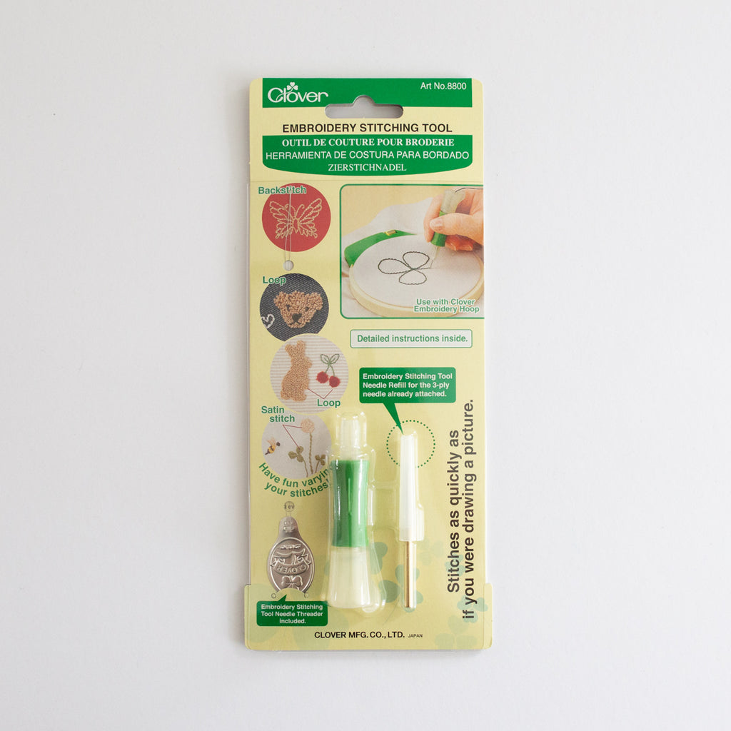 Clover borduurhulp en punch needle | Clover embroidery tool en punch needle