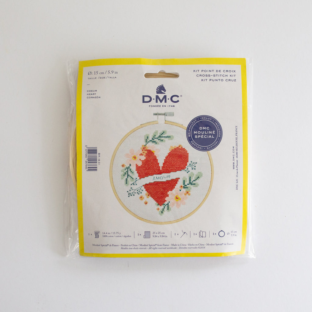 DMC Borduurset hartje | DMC Embroidery set Heart