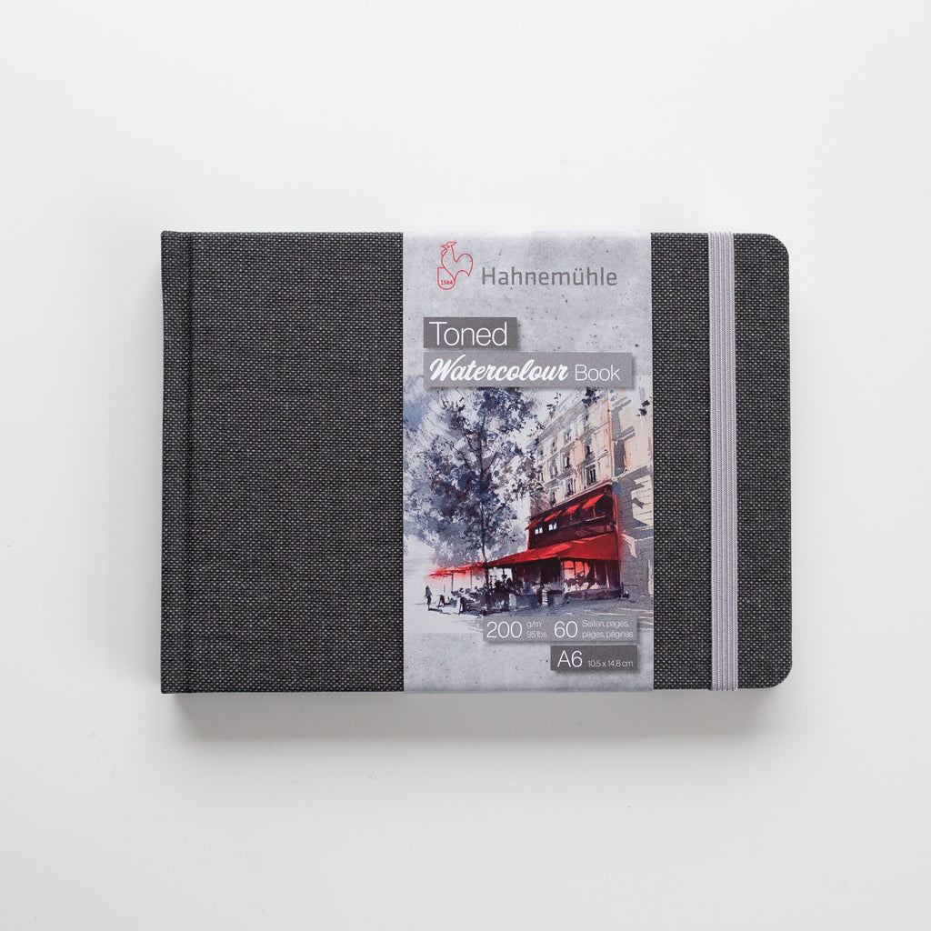 Hahnemuhle Toned Watercolour Book Grey Landscape A6