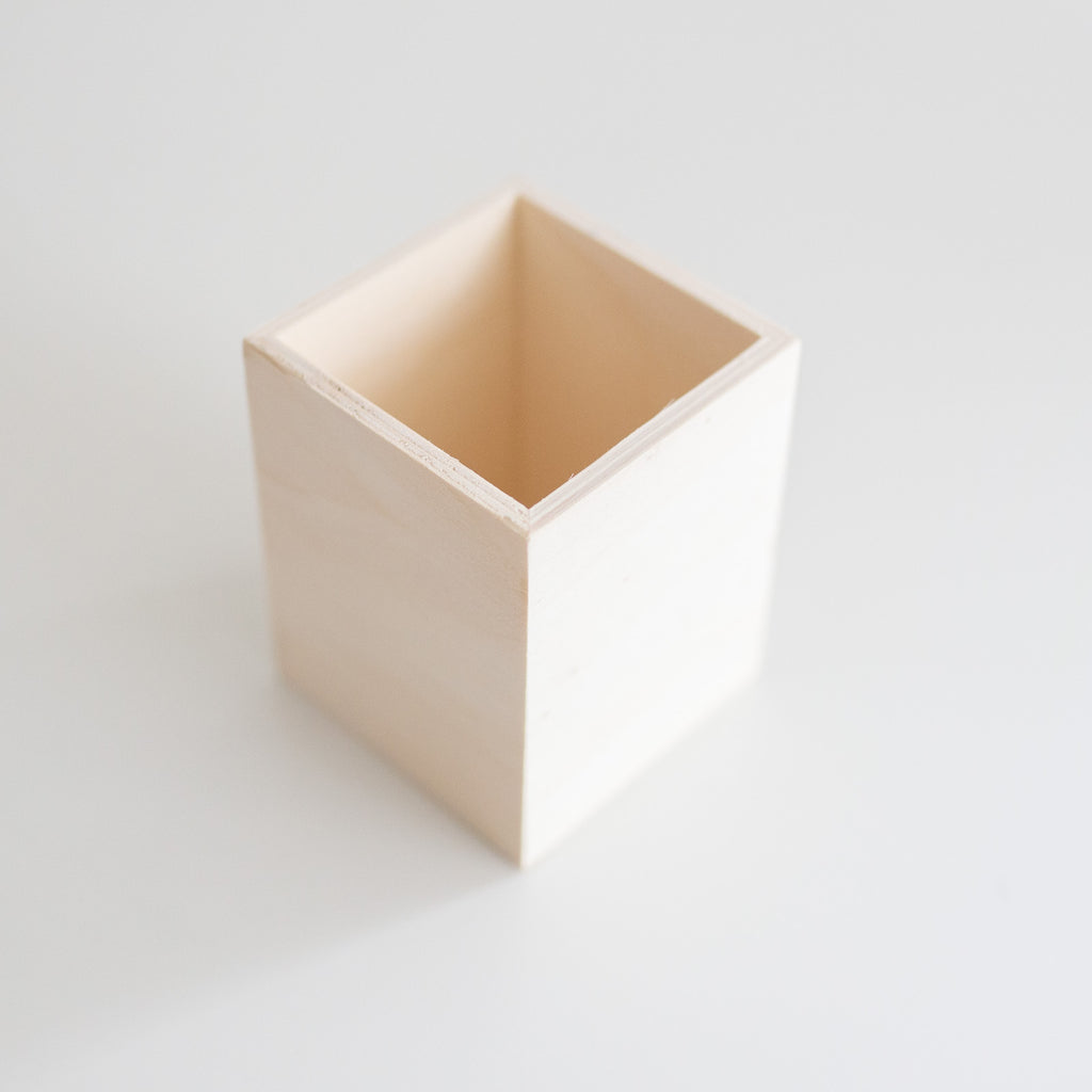 Houten pennenbak | Wooden pencil box