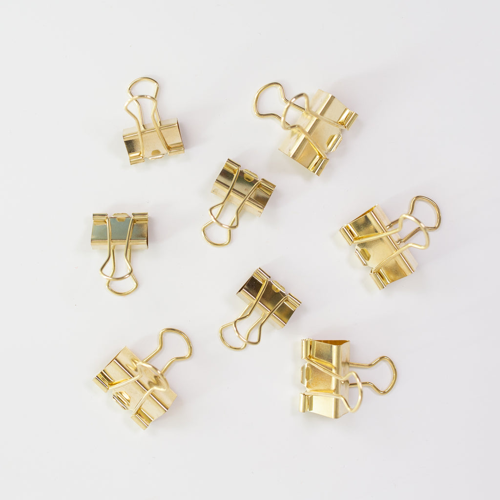 Foldback clip Gold 8pc