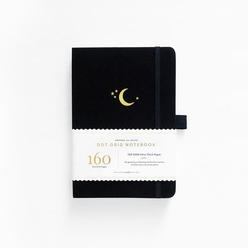 Archer & Olive Dot Grid Crescent Moon