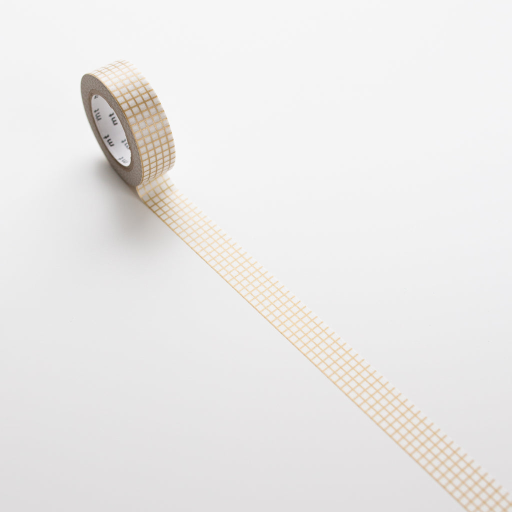 MT Masking Tape Gold Grid