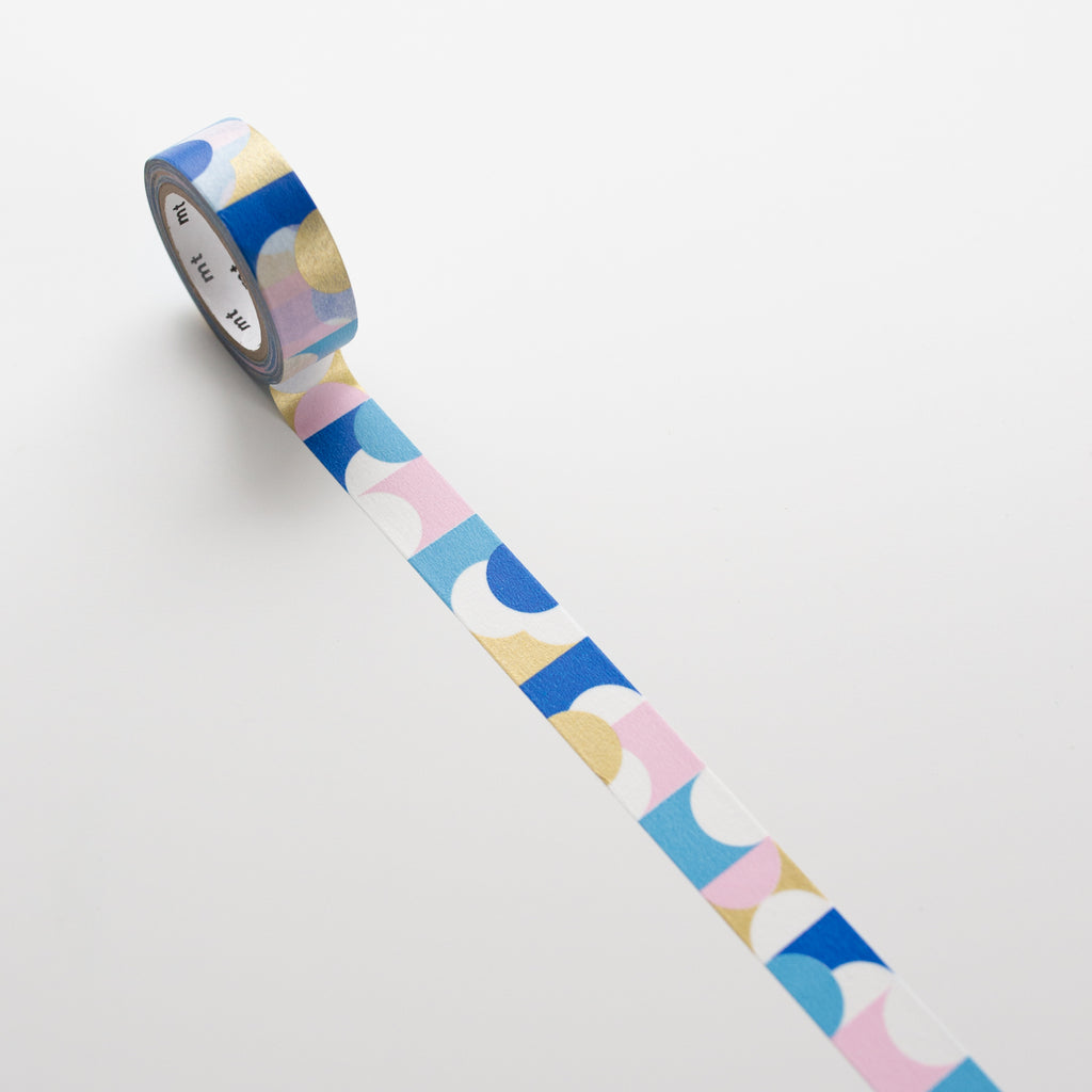 MT Masking Tape Half Circle Pink - Blue