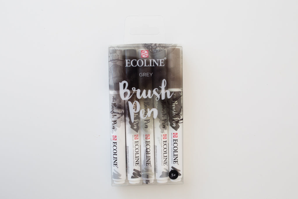 Ecoline brushpen set Grey