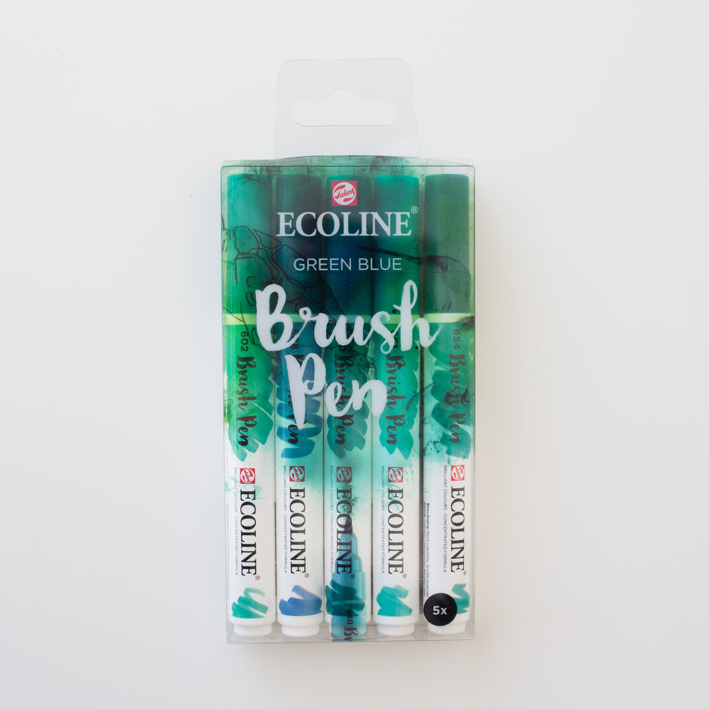Ecoline brushpen set Green Blue